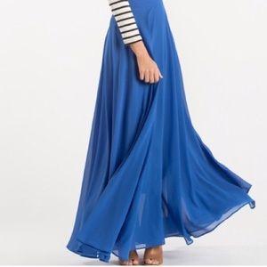 Topshop blue 100% viscose maxi skirt high slits 10
